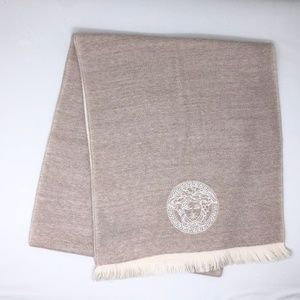 Auth Versace Light Pink Scarf